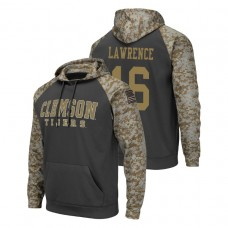 Clemson Tigers #16 Charcoal Trevor Lawrence Colosseum United We Stand College Football Hoodie