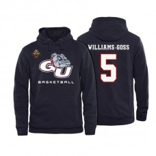 Gonzaga Bulldogs #5 Nigel Williams-goss Black Basketball 2017 Final Four Patch Name And Number College Football Hoodie