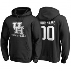 Houston Cougars Black Custom Name And Number Basketball College Football Hoodie