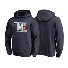Maryland Terrapins Navy Big & Tall Banner State Pullover College Football Hoodie