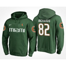 Miami Hurricanes College Team #82 Ahmmon Richards Name And Number Hoodie