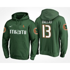 Miami Hurricanes College Team #13 DeeJay Dallas Name And Number Hoodie