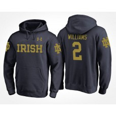 Notre Dame Fighting Irish College Team #2 Dexter Williams Name And Number Hoodie
