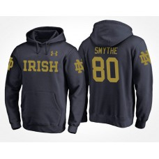Notre Dame Fighting Irish College Team #80 Durham Smythe Name And Number Hoodie