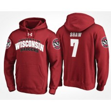 Wisconsin Badgers College Team #7 Bradrick Shaw Name And Number Hoodie