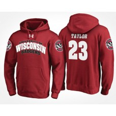 Wisconsin Badgers College Team #23 Jonathan Taylor Name And Number Hoodie