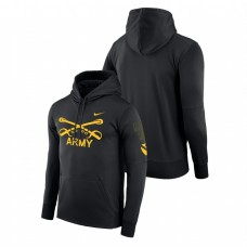 Army Black Knights 1st Cavalry Division Therma Black College Football Hoodie