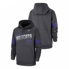 Kansas State Wildcats Anthracite Performance Pullover College Football Hoodie