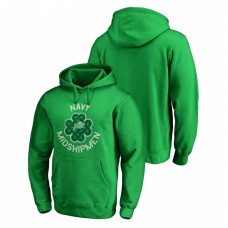 Navy Midshipmen Kelly Green St. Patrick's Day Fanatics Branded Luck Tradition College Football Hoodie