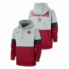 Stanford Cardinal Gray Cardinal Rivalry Pullover Therma Performance College Football Hoodie
