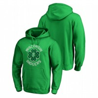 Wisconsin Badgers Kelly Green St. Patrick's Day Fanatics Branded Luck Tradition College Football Hoodie