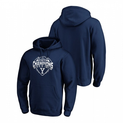 Yale Bulldogs Navy 2019 Ivy League Football Conference Champions College Football Hoodie
