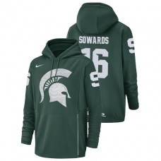 Michigan State Spartans #16 Green Brandon Sowards Champ Drive Football Performance College Football Hoodie