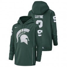 Michigan State Spartans #2 Green Justin Layne Champ Drive Football Performance College Football Hoodie