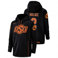 Oklahoma State Cowboys #2 Black Tylan Wallace Champ Drive Football Performance College Football Hoodie