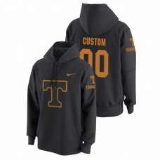Tennessee Volunteers #00 Anthracite Custom College Basketball Tech Travel Pullover Hoodie
