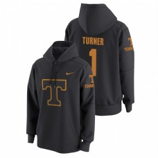 Tennessee Volunteers #1 Anthracite Lamonte Turner College Basketball Tech Travel Pullover Hoodie