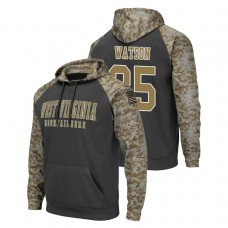 West Virginia Mountaineers #35 Charcoal Brady Watson Colosseum United We Stand College Football Hoodie