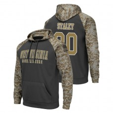 West Virginia Mountaineers #30 Charcoal Evan Staley Colosseum United We Stand College Football Hoodie