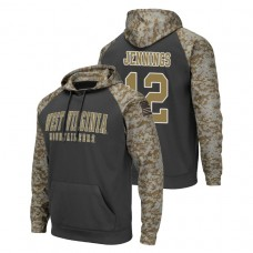 West Virginia Mountaineers #12 Charcoal Gary Jennings Jr. Colosseum United We Stand College Football Hoodie