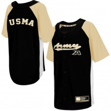Youth Army Black Knights Black Dugout Button-Up Strike Zone College Baseball Jersey