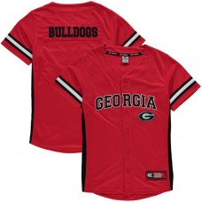 Youth Georgia Bulldogs Red Button-Up Strike Zone College Baseball Jersey