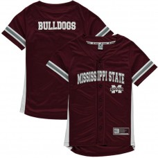 Youth Mississippi State Bulldogs Maroon Button-Up Strike Zone College Baseball Jersey