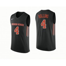 Oregon State Beavers #4 Alfred Hollins Black College Basketball Jersey