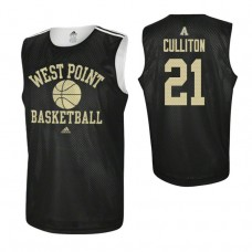 Army Black Knights #21 Will Culliton Practice Black Jersey