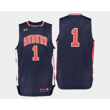 Auburn Tigers #1 Kareem Canty Navy Road College Basketball Jersey