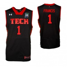 Texas Tech Red Raiders #1 Brandone Francis Black 2019 Final Four College Basketball Jersey