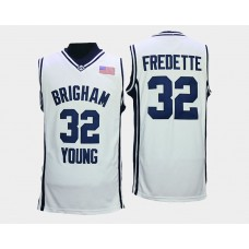 BYU Cougars #32 Jimmer Fredette White College Basketball Jersey