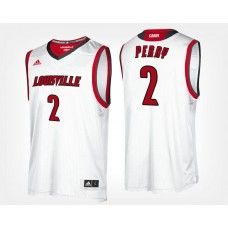 Louisville Cardinals #2 Darius Perry White Road College Basketball Jersey