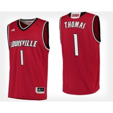 Louisville Cardinals #1 Lance Thomas Red Home College Basketball Jersey