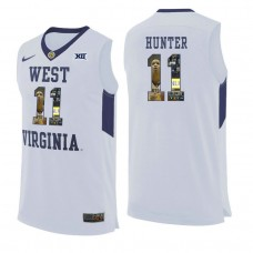 West Virginia Mountaineers #11 D'Angelo Hunter White College Basketball Jersey
