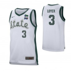 Michigan State Spartans #3 Foster Loyer White 2019 Final Four College Basketball Jersey