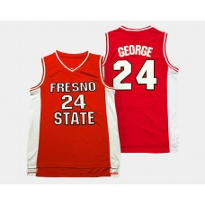 Fresno State Bulldogs #24 Paul George Red Road College Basketball Jersey