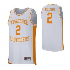 Tennessee Volunteers #2 Grant Williams White College Basketball Jersey