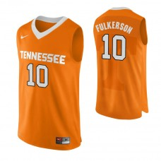 Tennessee Volunteers #10 John Fulkerson Authentic Performace Orange Jersey