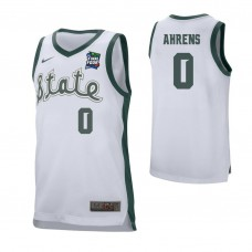 Michigan State Spartans #0 Kyle Ahrens White 2019 Final Four College Basketball Jersey