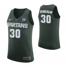 Michigan State Spartans #30 Marcus Bingham Jr. Green 2019 Final Four College Basketball Jersey