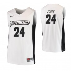 Providence Friars #24 Andrew Fonts Replica White Jersey