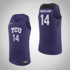 TCU Horned Frogs #14 Angus McWilliam Purple College Basketball Jersey