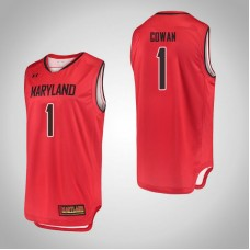 Maryland Terrapins #1 Anthony Cowan Red College Basketball Jersey