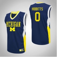Michigan Wolverines #0 Brent Hibbitts Blue College Basketball Jersey