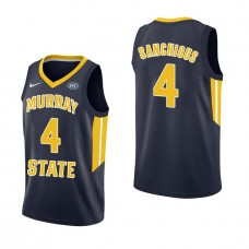Murray State Racers #4 Brion Sanchious Navy College Basketball Jersey