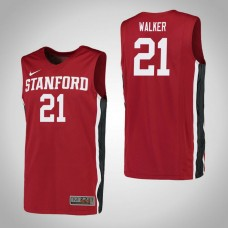 Stanford Cardinal #21 Cameron Walker Red College Basketball Jersey