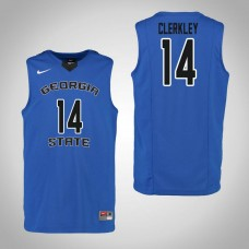 Georgia State Panthers #14 Chris Clerkley Blue College Basketball Jersey