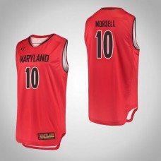 Maryland Terrapins #10 Darryl Morsell Red College Basketball Jersey