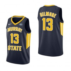 Murray State Racers #13 Devin Gilmore Navy College Basketball Jersey